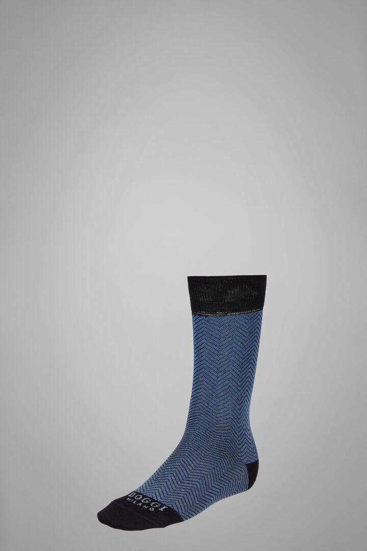 Chaussettes Courtes Macro Épi De Blé, Bleu - bleu clair, hi-res