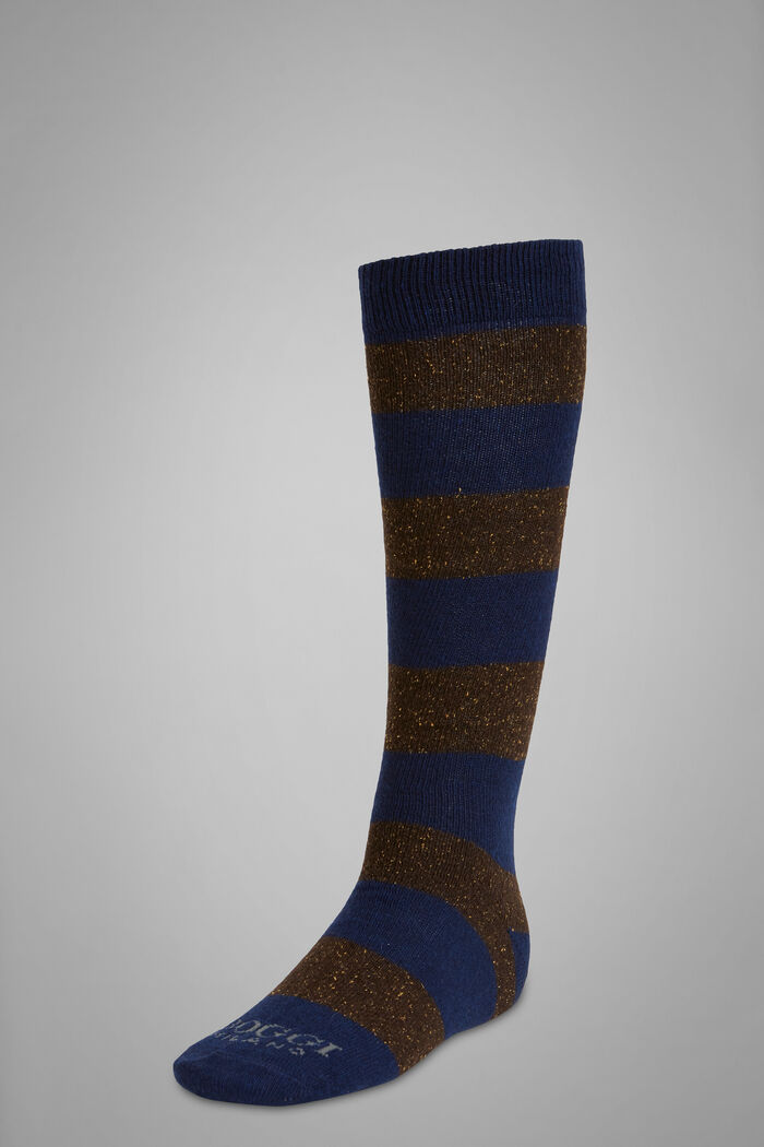 Striped Cashmere Long Socks, , hi-res