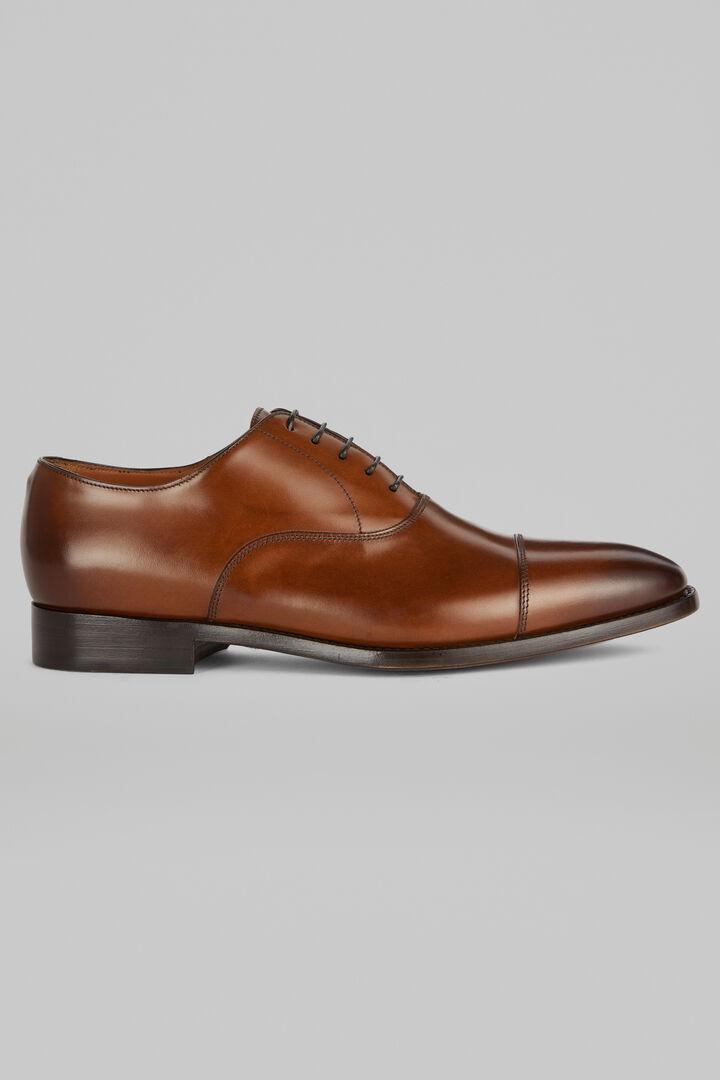 Chaussures Richelieu En Cuir Lisse, marron, hi-res