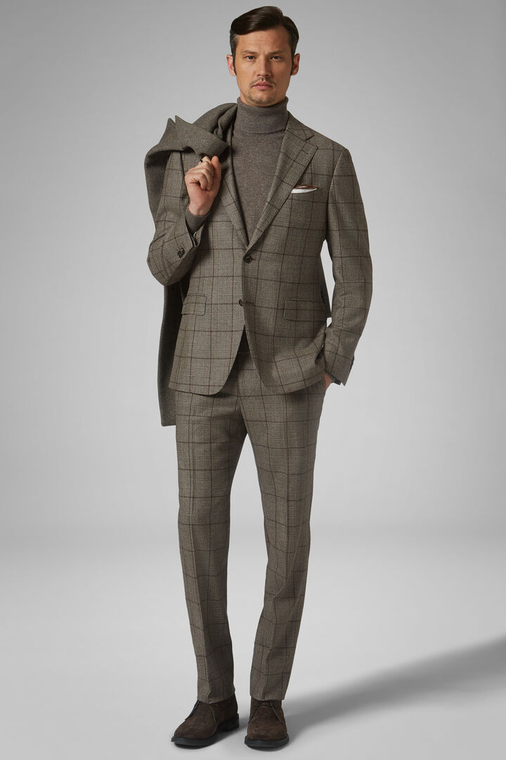 Hazelnut Wool Napoli Suit, Hazelnut, hi-res