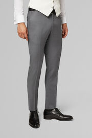 PANTALONE DA ABITO PER CERIMONIA COMPOSE IN LANA REGULAR FIT, GRIGIO, hi-res