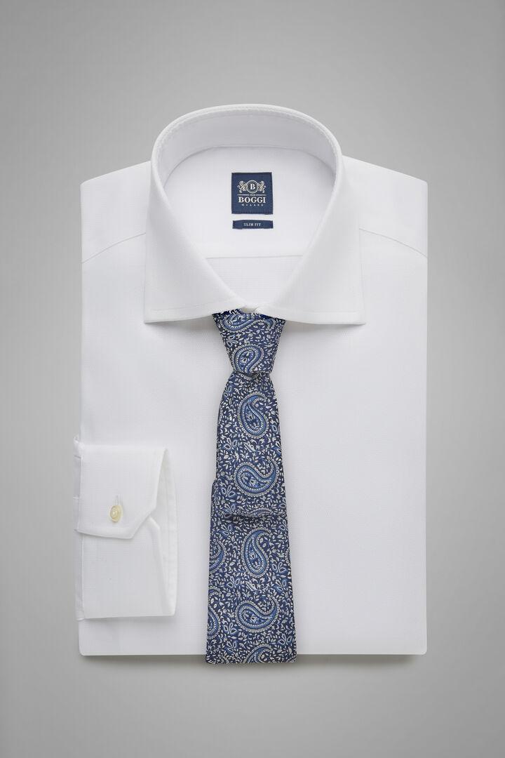 Hemd Weiss Mit Windsor-Kragen Slim Fit, Weiß, hi-res
