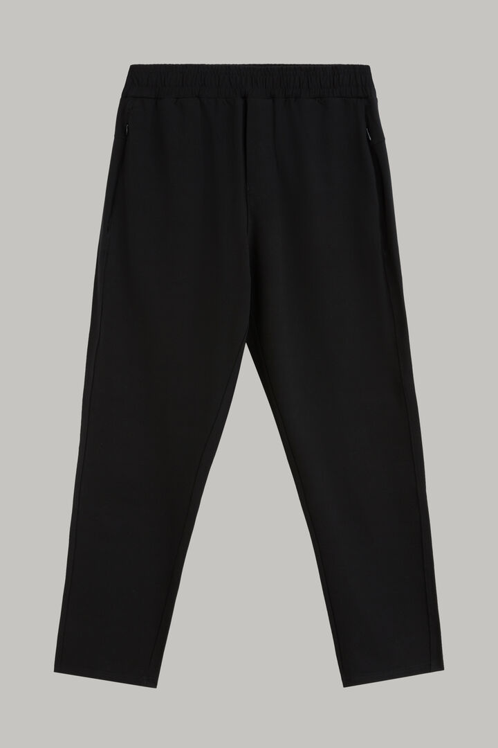 Pantalon En Modal Extensible Avec Cordon De Serrage, Noir, hi-res