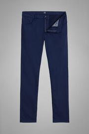 5 Pocket Hose Aus Baumwollgabardine Und Tencel Regualr Fit, Navy blau, hi-res