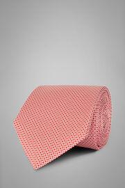 Cravate Micro Motif En Soie Imprimée, rouge, hi-res