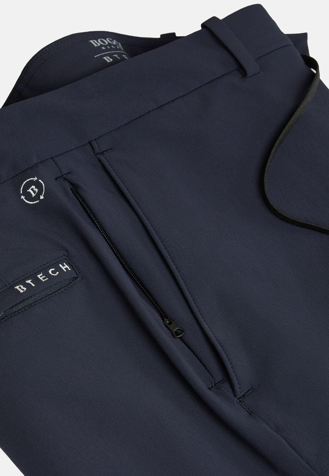 Hose aus elastischem recyceltem nylon b tech, Navy blau, hi-res