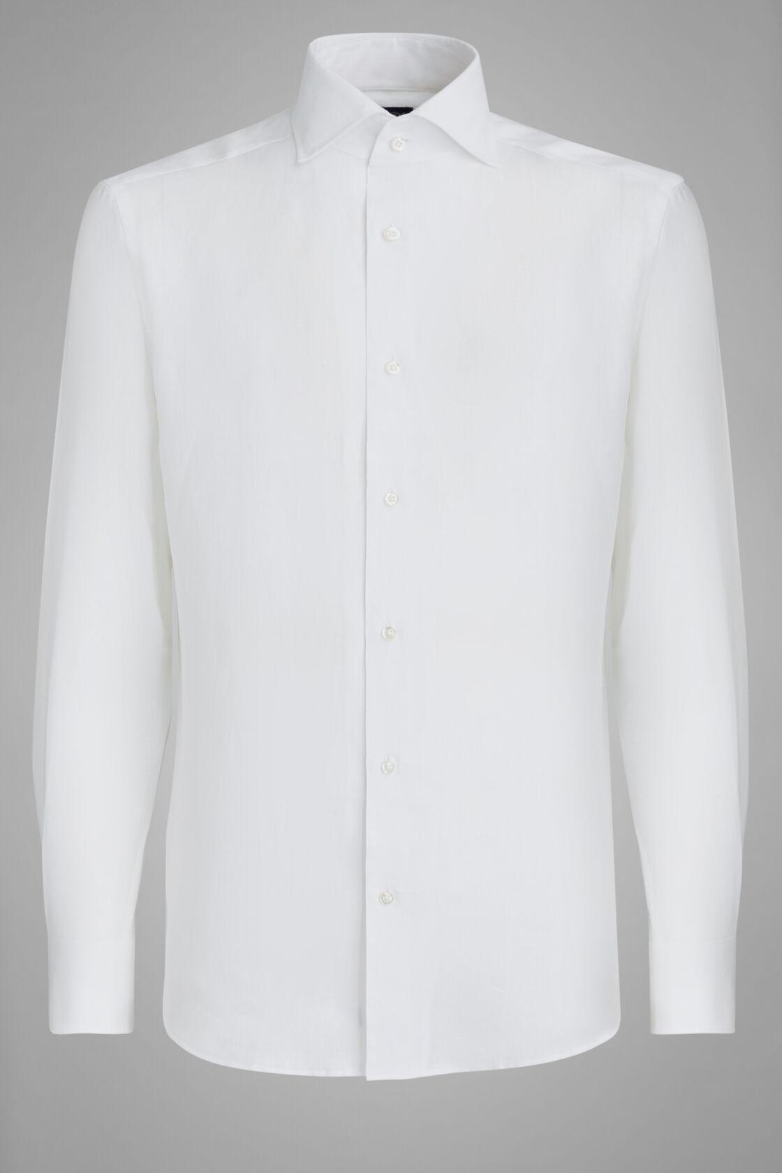 Camicia Bianca Collo Capri Regular Fit, Bianco, hi-res