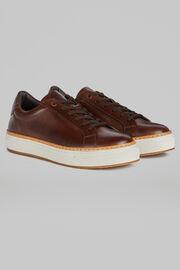 Sneakers Pelle Liscia, Moro, hi-res