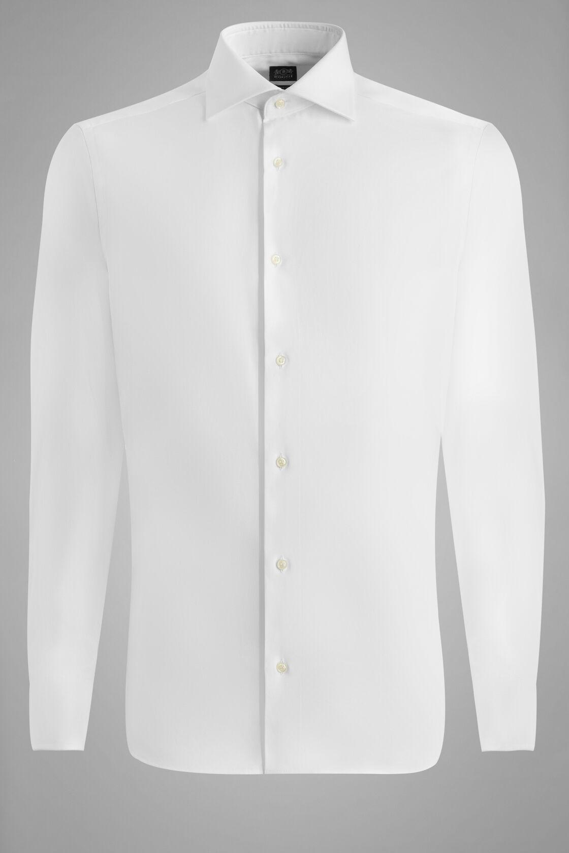 Chemise Blanche À Col Windsor Coupe Ajustée, blanc, hi-res