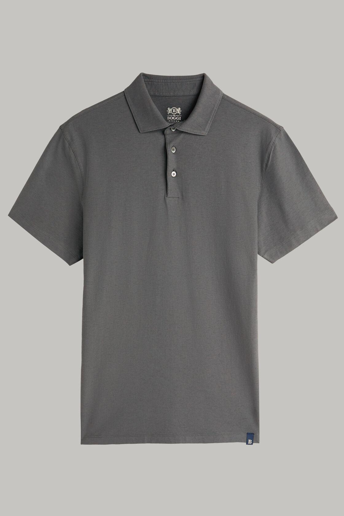 Polo aus baumwolljersey und krepp regular fit, , hi-res