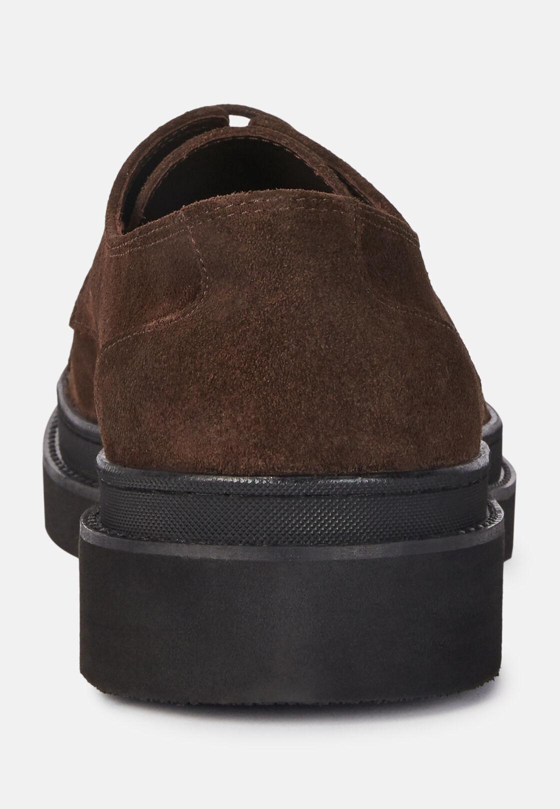 Scarpe derby in pelle scamosciata, Marrone, hi-res