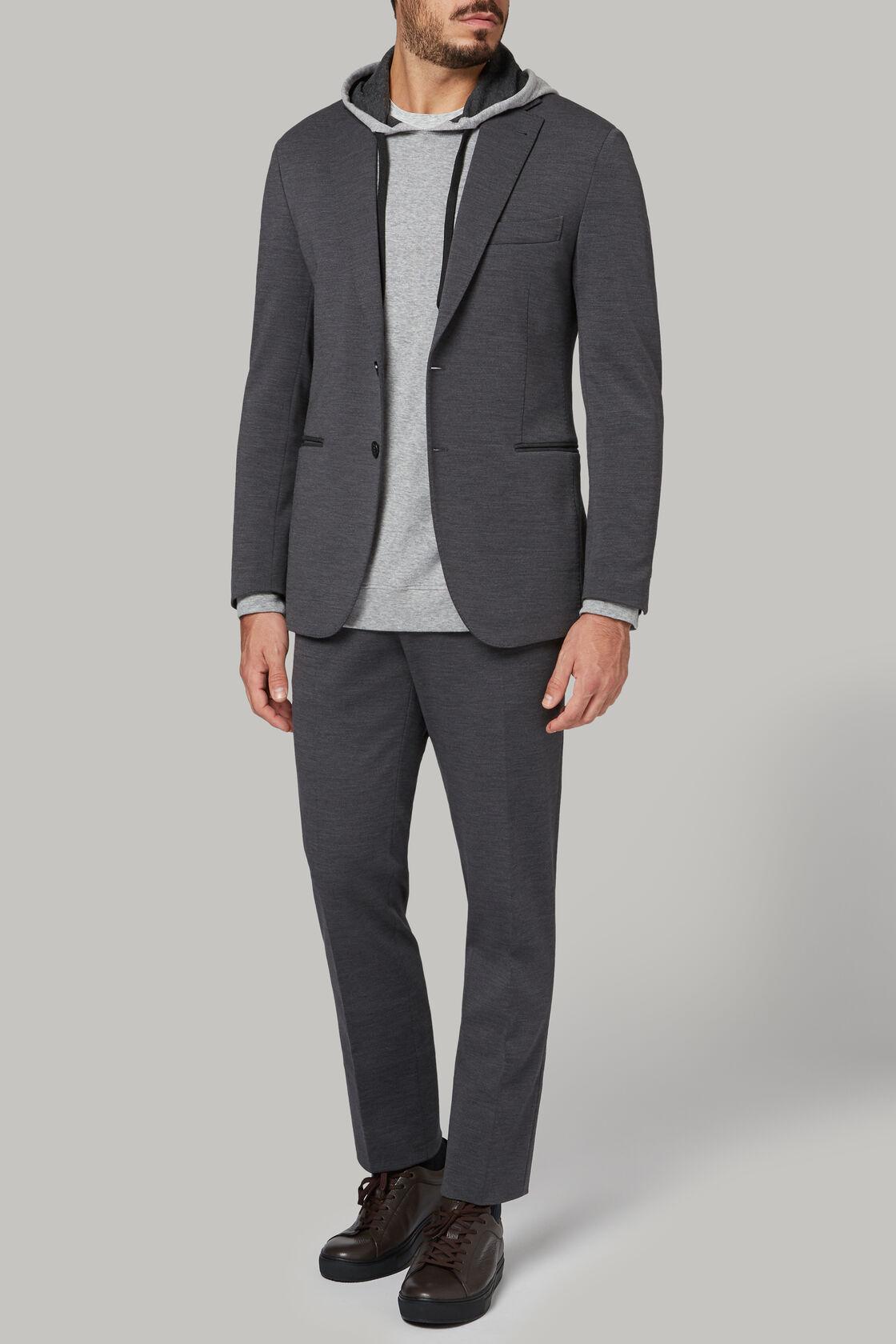 Giacca grigio in jersey di lana, Grigio, hi-res