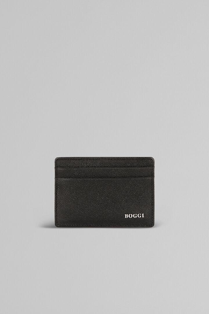 Kartenbörse Für Kreditkarten Aus Leder Mit Kaviarprägung, Schwarz, hi-res