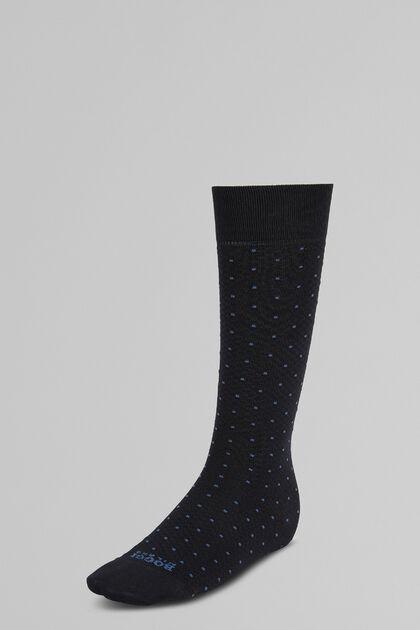 Lange Gepunktete Piqué-Socken Performance-Garn, Navy blau, hi-res