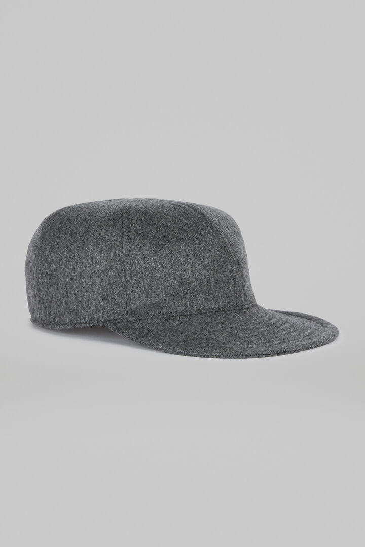 Soft Cashmere Hat With Brim, Light grey, hi-res