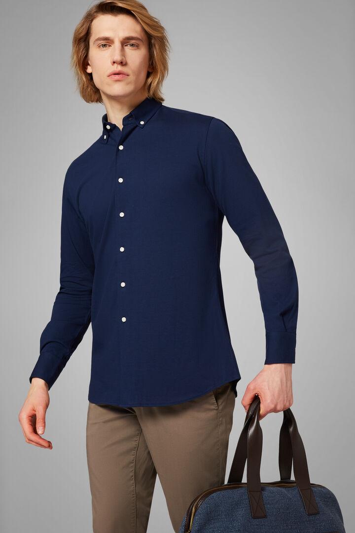 Polo Camicia Blu Collo Button Down Regular, Blu, hi-res
