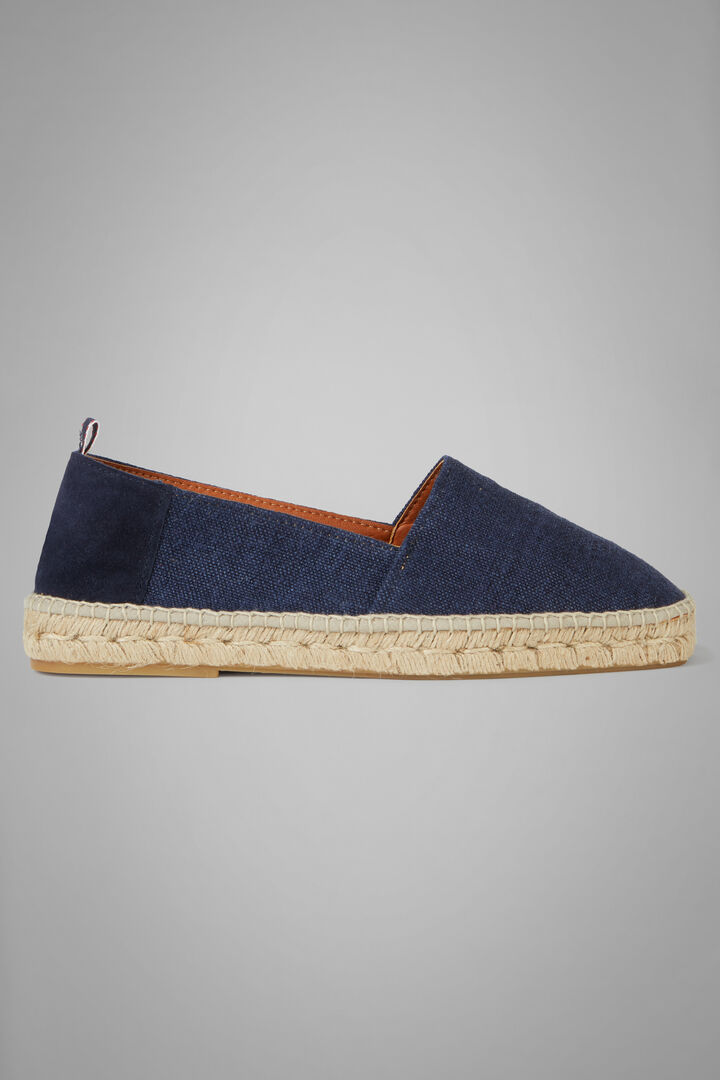Canvas And Suede Espadrilles, Denim, hi-res