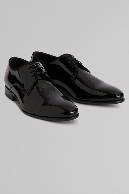 Derbies Smoking Vernis, Noir, hi-res