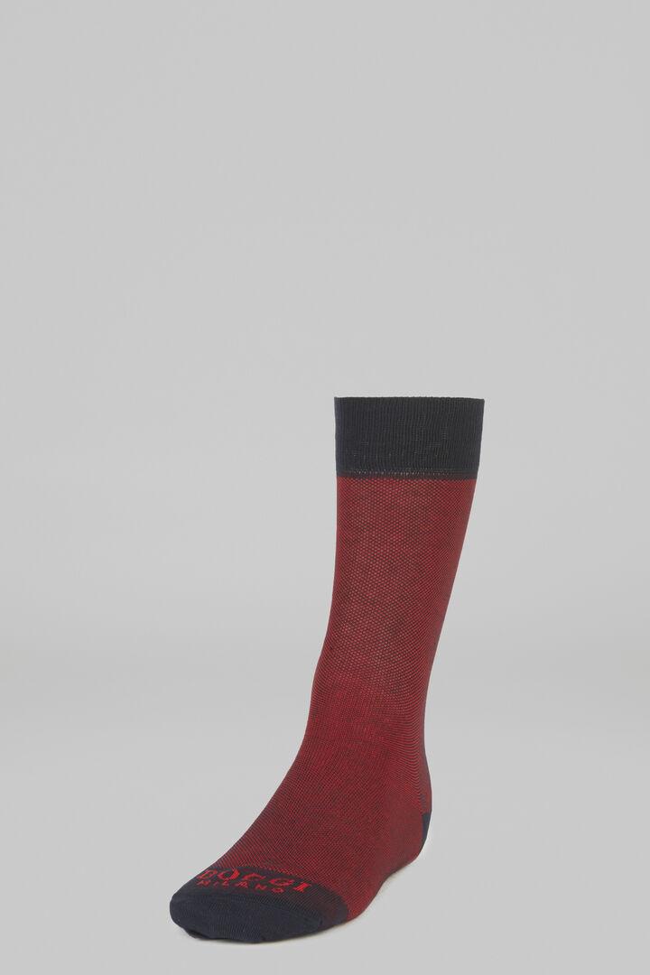 Micro Patterned Short Socks, Burgundy, hi-res