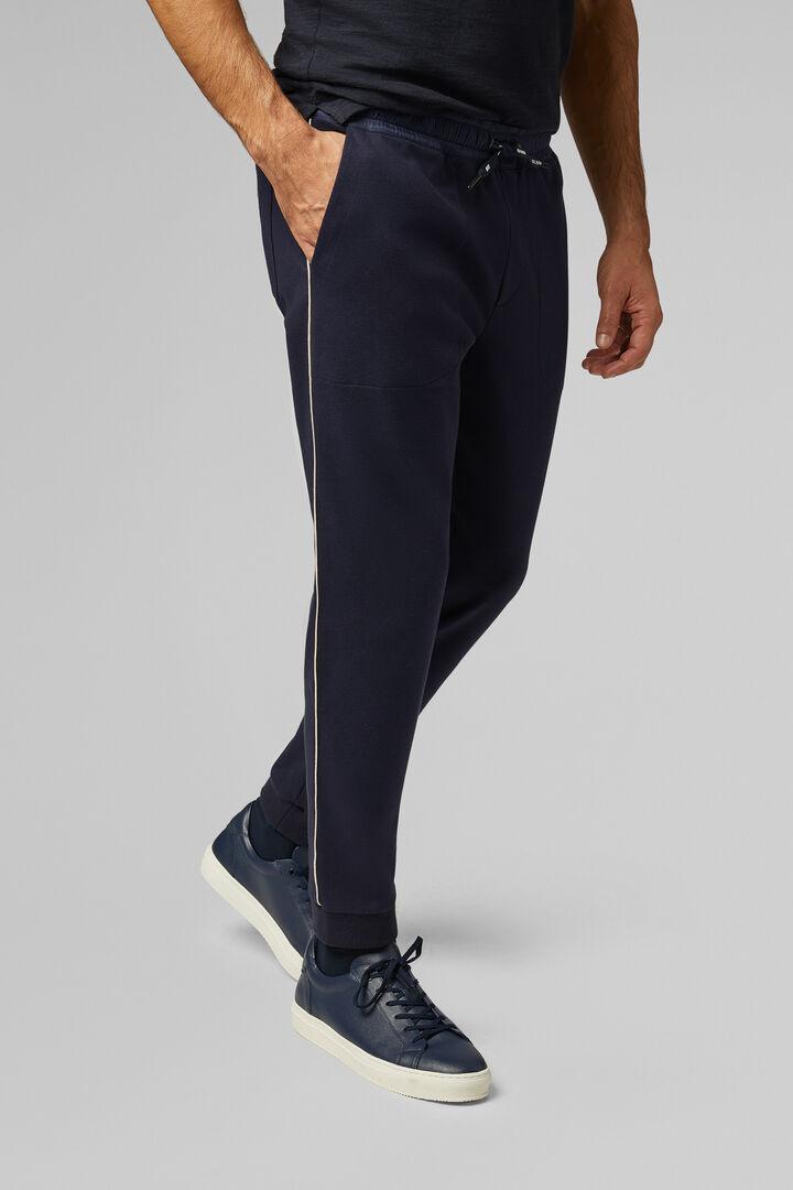 Pantalon En Molleton Coupe Slim, bleu marine, hi-res