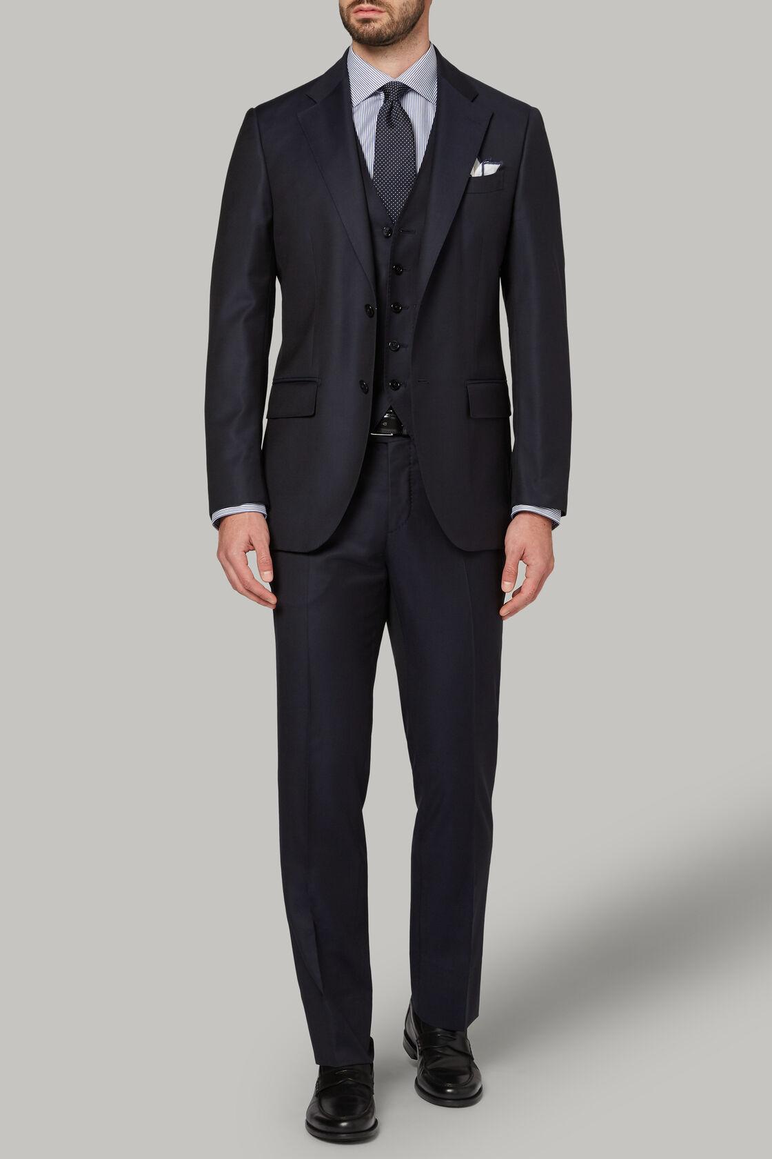Marineblauer Anzug aus Super 130 Wolle, , hi-res
