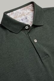 Polo aus baumwollpiqué regular fit, Grün, hi-res