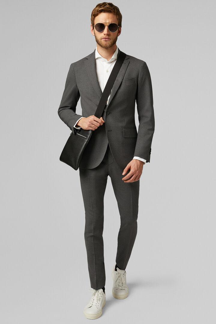 Grey Travel Wool Mantova Suit Jacket, Grey, hi-res