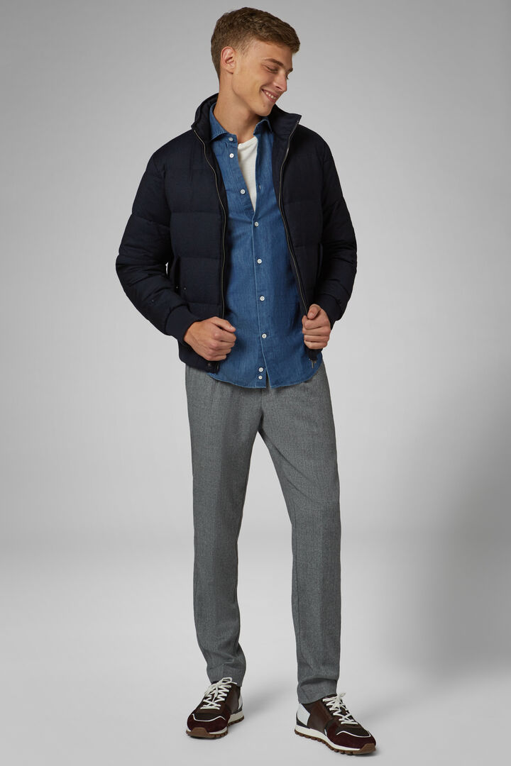 SMART FLANNEL - OUTERWEAR - BLUE - RED, , hi-res