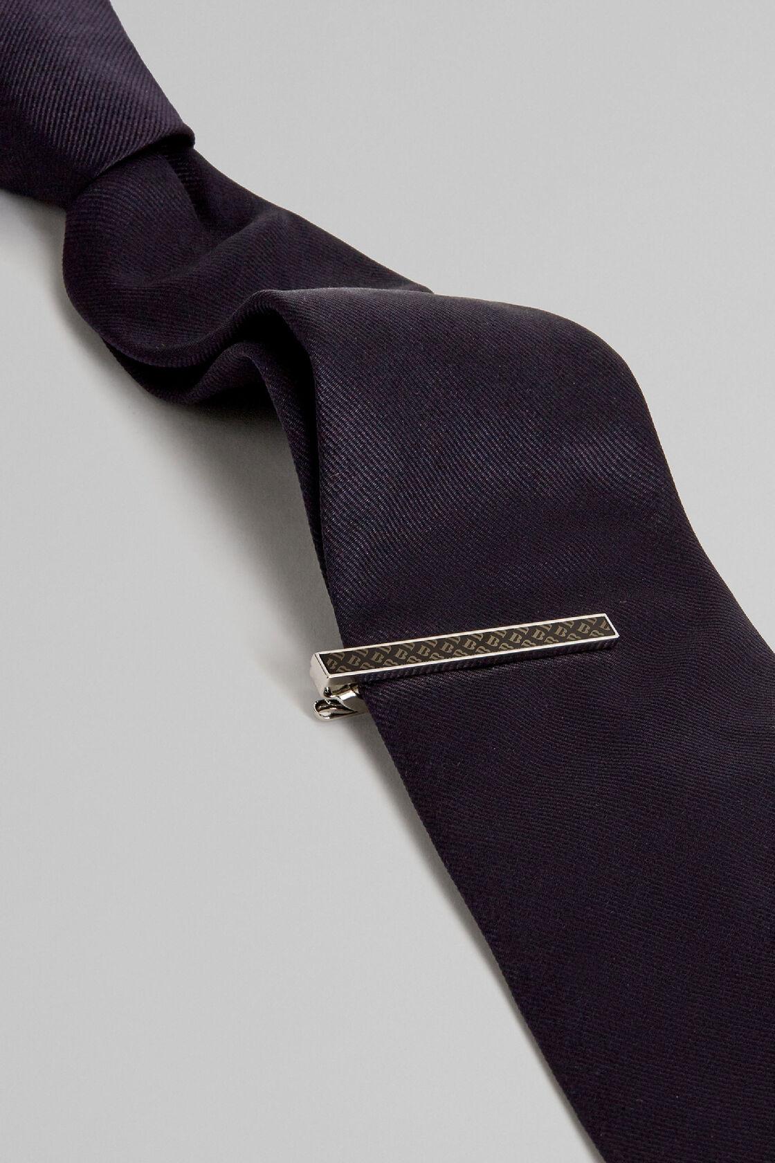 Krawattenklammer mit logo, Silber, hi-res