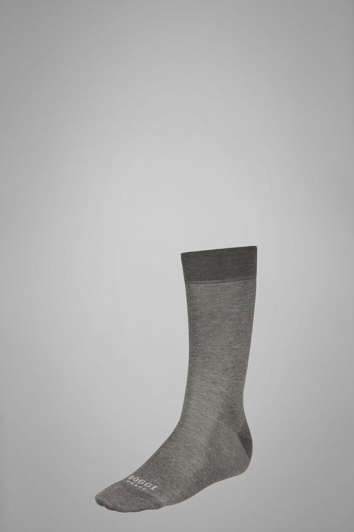 Short Socks With Micro Polka Dot Motif, Light grey, hi-res
