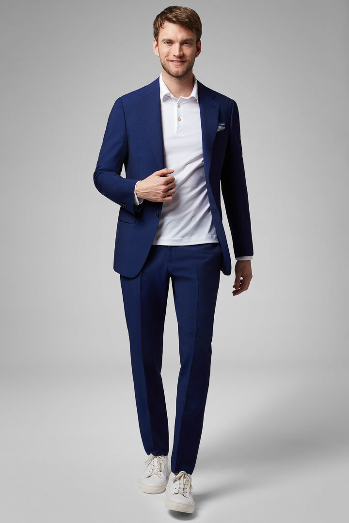 Cornflower Blue Wool & Mohair Blend Milano Suit, Bluette, hi-res