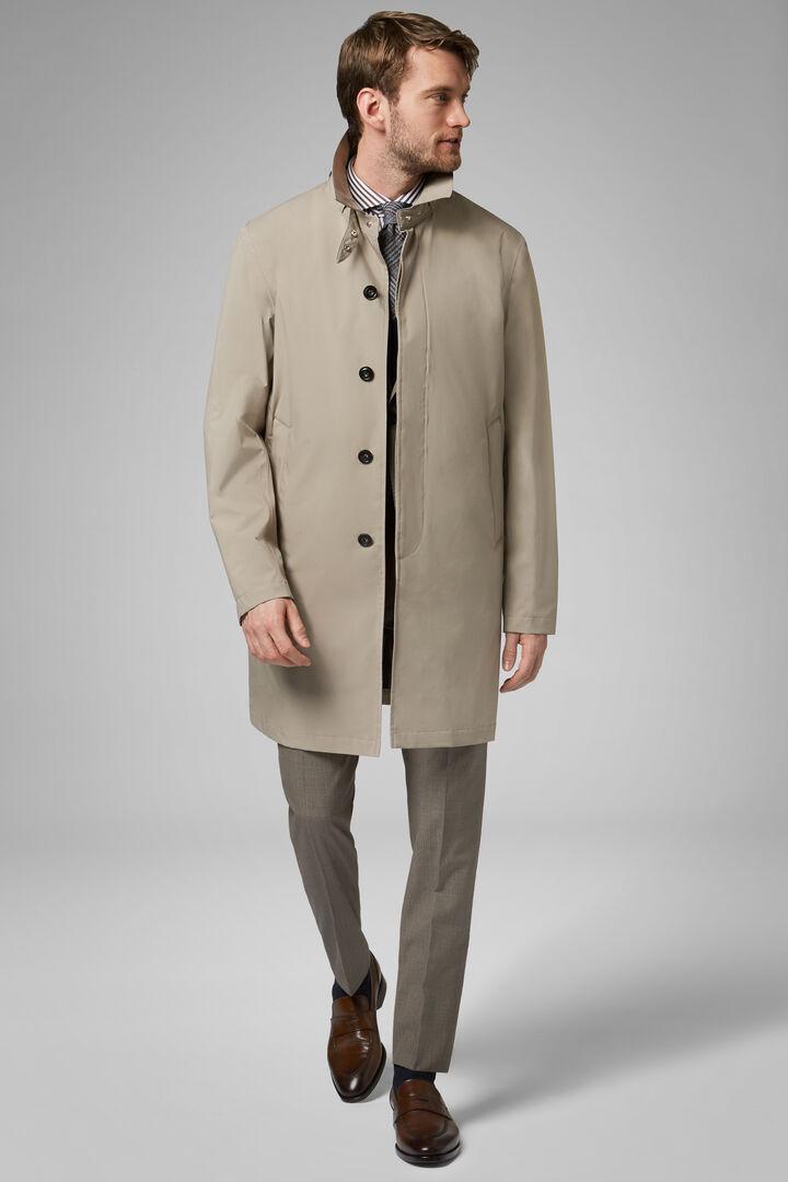 3 layers water repellent raincoat, Camel, hi-res