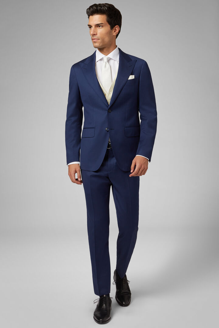 CORNFLOWER BLUE WOOL MILANO SUIT, , hi-res