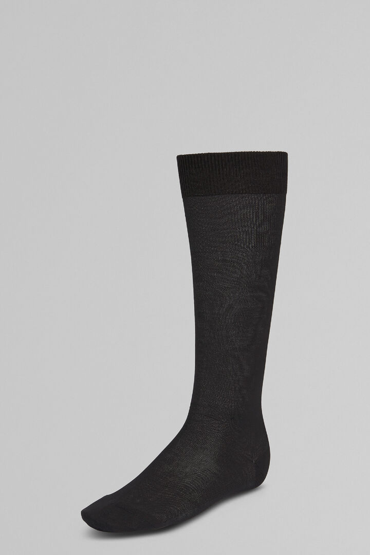 Stockinet Long Socks, Charcoal, hi-res