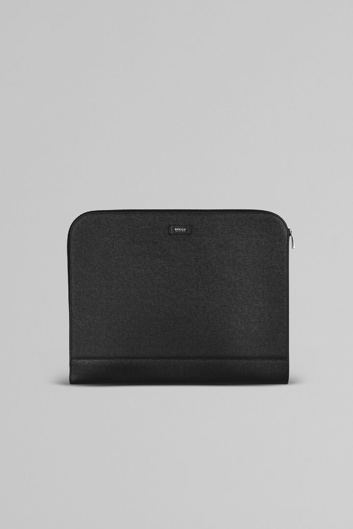 Caviar Print Leather Document Holder, Black, hi-res