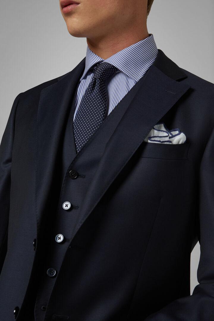 Navy Wool Berlino Suit Jacket, Navy blue, hi-res