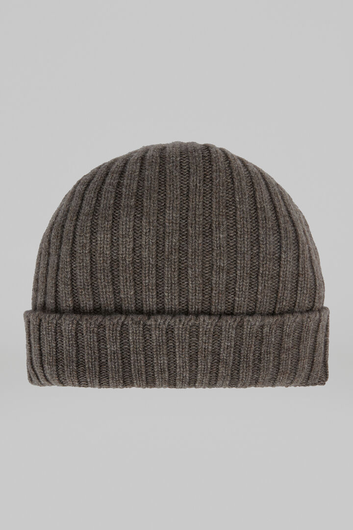 Ribbed Pure Cashmere Hat, Taupe (Turtle-dove), hi-res