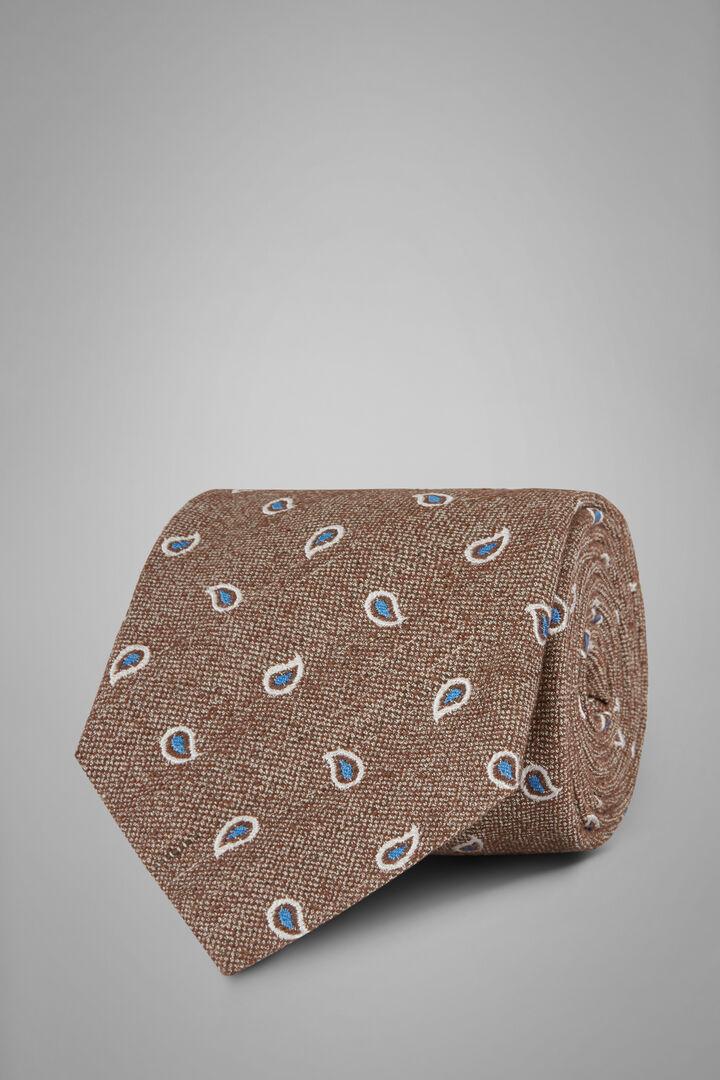 Krawatte Mit Paisleymuster Aus Bourettseide, Braun, hi-res