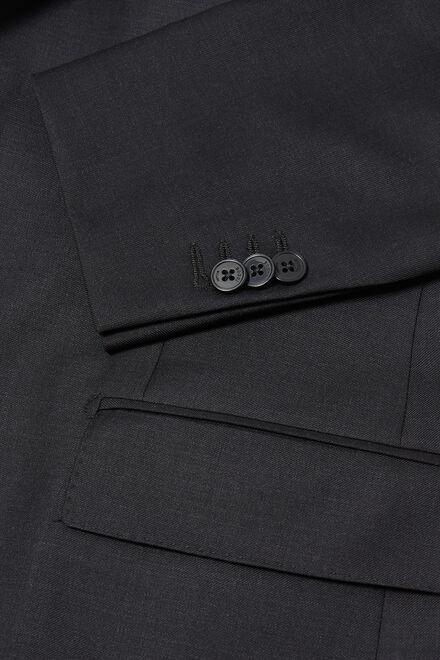 Anthrazitfarbene jacke aus super-130-wolle, Holzkohle, hi-res