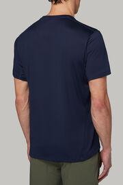T-shirt in jersey tecnico performante, Navy, hi-res