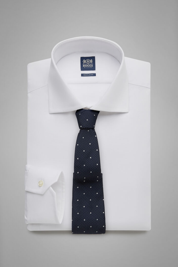 Regular Fit White Shirt With Windsor Collar, White, hi-res