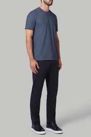 T-shirt aus baumwolljersey und nylon-tencel, Navy blau, hi-res