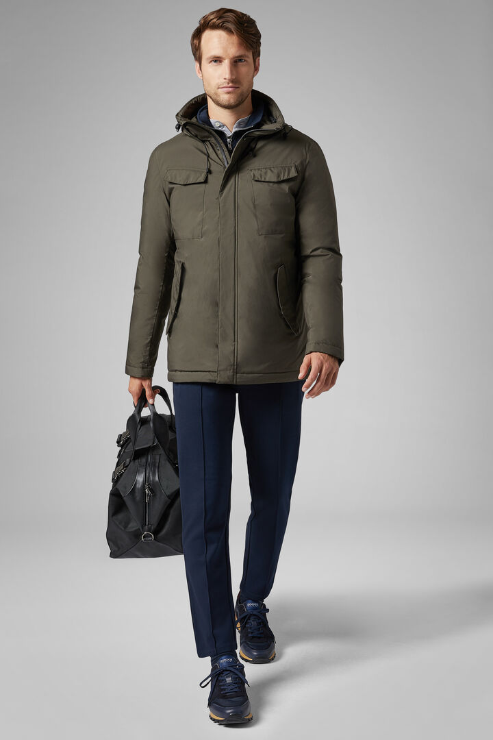 3-Layer Down Field Jacket, Military Green, hi-res
