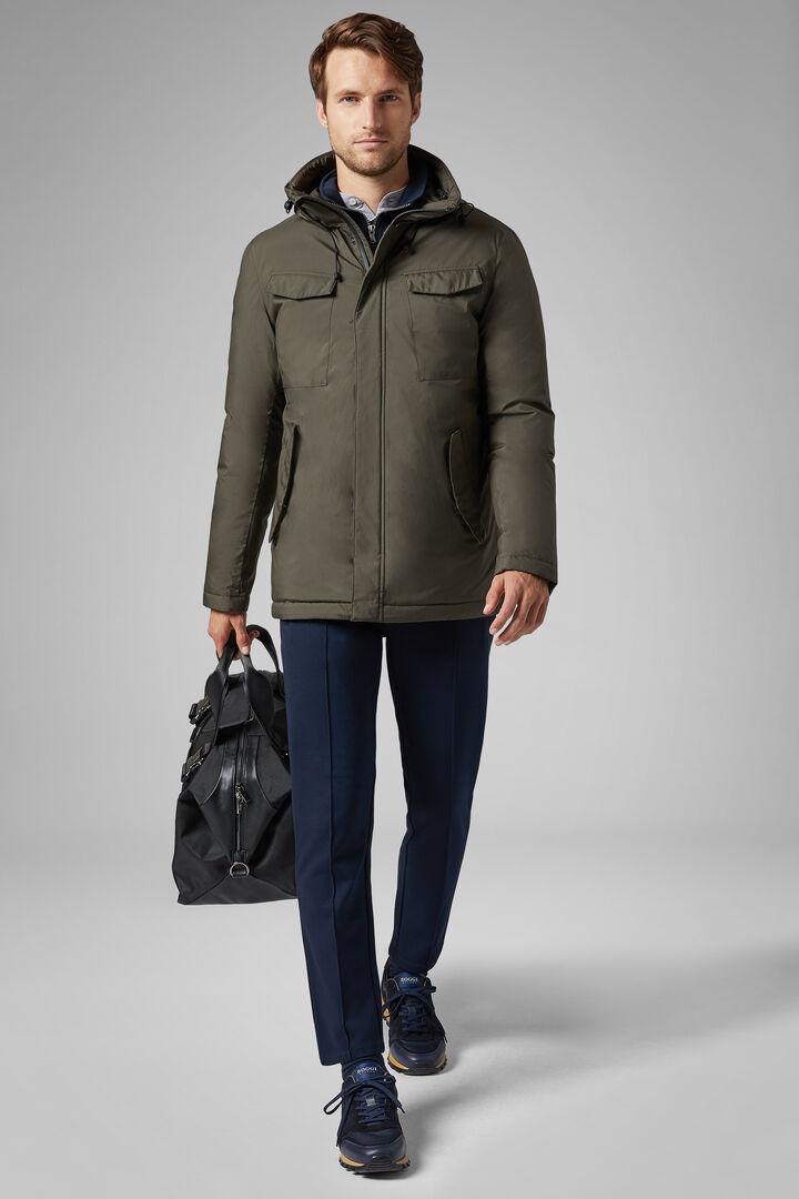 Field Jacket In Piuma Con Tessuto 3 Layers, Militare, hi-res