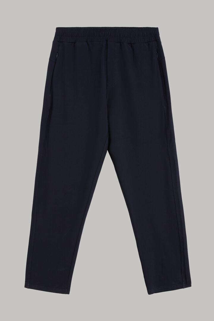 Pantalon En Modal Extensible Avec Cordon De Serrage, bleu marine, hi-res