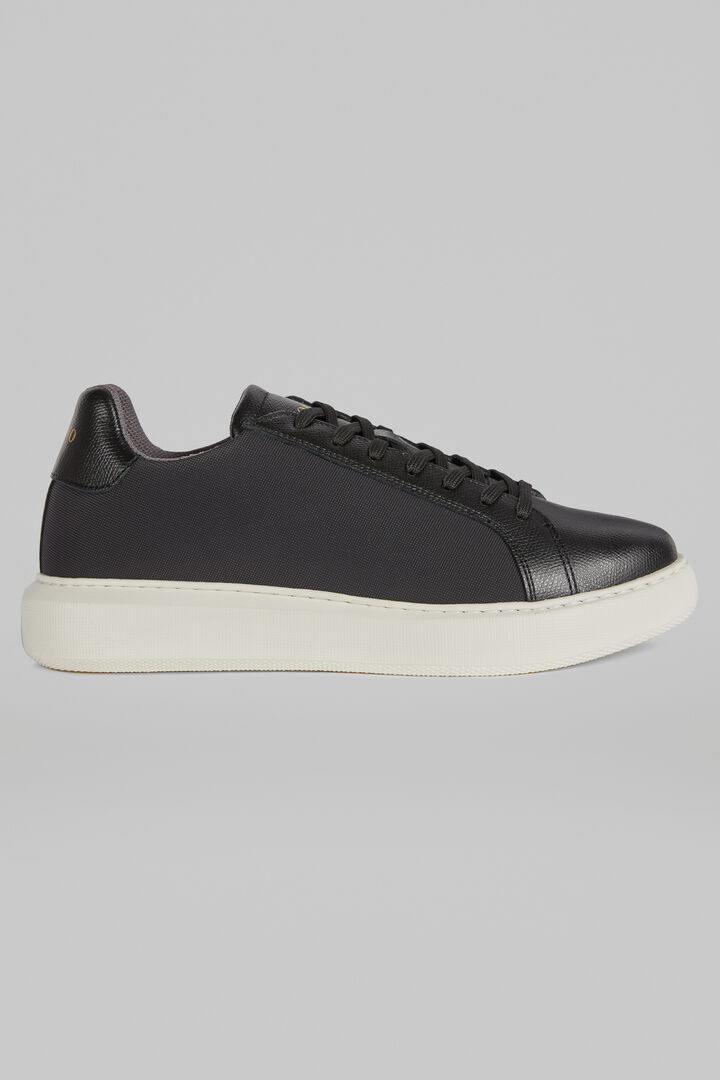 Extra Light Leather Trainers, Black, hi-res