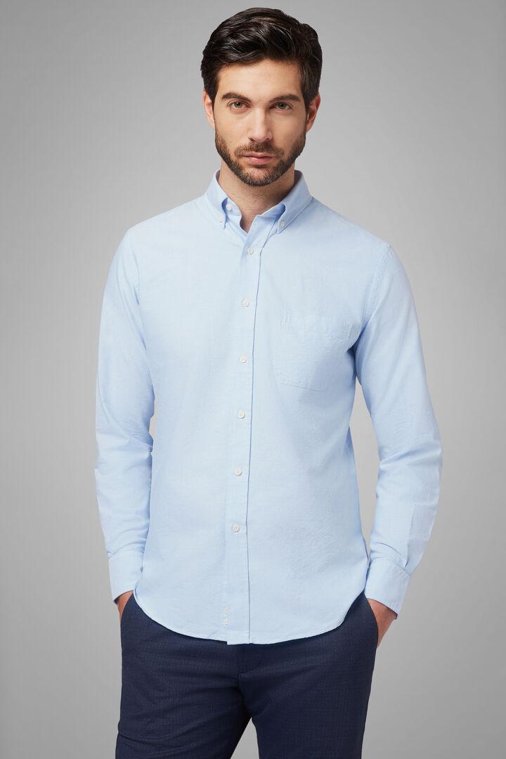 Hemd Azurblau Mit Button-Down-Kragen Regular Fit, Hellblau, hi-res