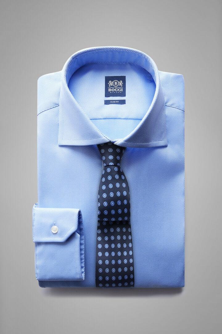 Camicia Azzurra Collo Windsor Slim Fit, Azzurro, hi-res