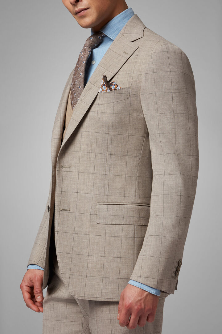 ECRU NATURAL WOOL NAPOLI SUIT, , hi-res