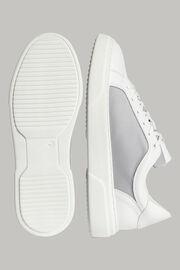 Navyblaue sneakers aus technischem stoff und leder, White - Light Grey, hi-res